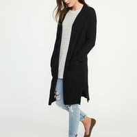 Luxe Super-Long Open-Front Cardi for Women | Old Navy