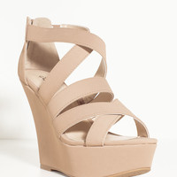 Finder-349 On The Loose Strappy Wedge