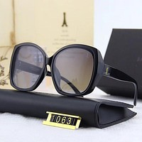 Yves Saint laurent YSL Woman Men Fashion Summer Sun Shades Eyeglasses Glasses Sunglasses