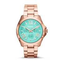 Fossil Cecile Multifunction Stainless Steel Watch in Rose Gold AM4540