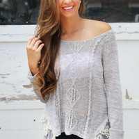 Frills + Crochet Knit