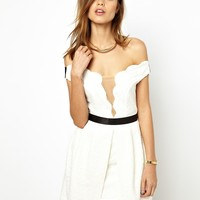 Three Floor White Out Dress at asos.com