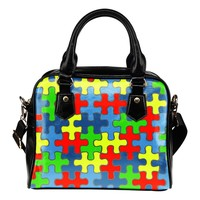 Autism Awareness Shoulder Handbag