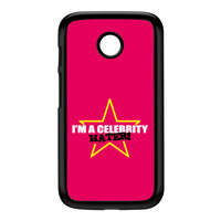 Celebrity Hater Black Hard Plastic Case for Moto E by Chargrilled