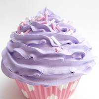 Play Food Cupcake for play kitchen decoration can be wonderful Christmas gift for children purple frosting
