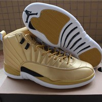 "Air Jordan 12 Pinnacle ""Gold"" Sport Shoe US7-13"