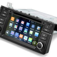 7 Inch Touchscreen Car DVD Player – Android 4.4, Quad Core CPU, 1 DIN, GPS, Bluetooth, Wi-Fi, 3G, For BMW M3 + E46