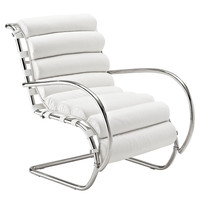 Ripple Lounge Chair in White