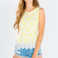 Day Date Floral Lace Top