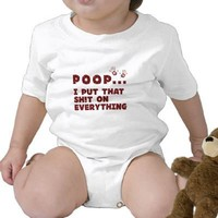 funny baby clothes sayings - baby poop joke shirt from Zazzle.com
