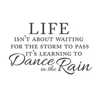 wall quotes wall decals - Waiting For the Storm