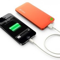 Jackery Air Premium Ultra-thin Aluminum Portable Charger 5000mAh External Battery Backup Power Bank. High Capacity, Fast Charging. For Apple iPhone 6 Plus, 6, 5S, 5C, 5, 4S, iPad, Air, Mini, Samsung Galaxy S4, S3, Note, Nexus, LG, HTC, Moto. (Orange)