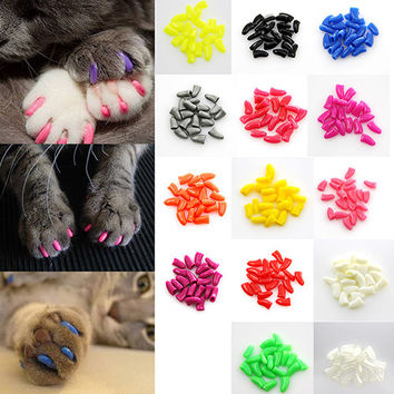 Colorful Soft Paw Claw Control Caps