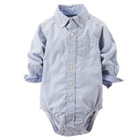 Carter's Plaid Button-Down Bodysuit - Baby Boy, Size: