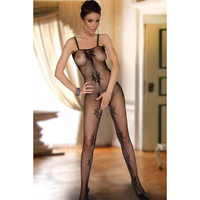 Body Belt Sexy Black Print Stockings = 4804359812