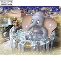 5D Diamond Painting Bath Time for Dumbo Kit