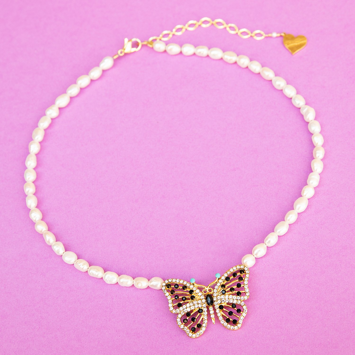 Image of Pearl Butterfly Treasure Necklace