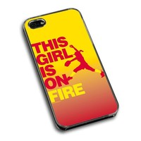 Softball iPhone 5   iPhone 5S Case This Girl Is On Fire Pitcher