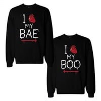 My Bae And Boo Couple Sweatshirts Halloween