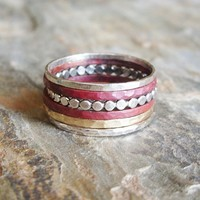 Mixed Metals Stacking Rings - Set of 6