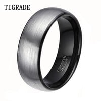 8mm Classic Brushed Men Tungsten Carbide Ring Male Wedding Rings Anillos Anel Masculino Men Jewelry Ring Bague Engagement Rings