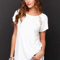 Lace to Be Ivory Lace Tee