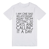 I'M ONE BAD RELATIONSHIP FROM GETTING 30 CATS
