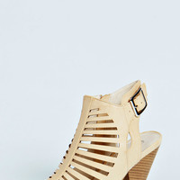 Roxie Cut Out Peep Toe Heels