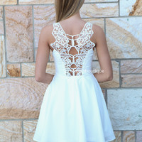 ALL EYES ON ME DRESS , DRESSES, TOPS, BOTTOMS, JACKETS & JUMPERS, ACCESSORIES, 50% OFF SALE, PRE ORDER, NEW ARRIVALS, PLAYSUIT, COLOUR, GIFT VOUCHER,,White,LACE,CUT OUT,SLEEVELESS Australia, Queensland, Brisbane
