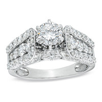 1-7/8 CT. T.W. Diamond Engagement Ring in 14K White Gold - View All Rings - Zales
