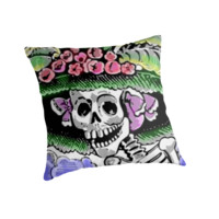 Funny Skeleton with funny hat with flower by MNA-Art