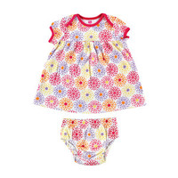 Hudson Baby Floral Dress and Diaper Cover | Affordable Infant Clothing