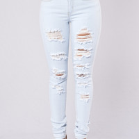 Look Out Jeans - Light Blue