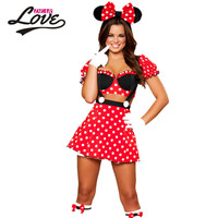 Miss Mouse Costume LC8719 Night Club for women luxurious red cosplay infantile in high street Sexy Halloween Costumes new 2016