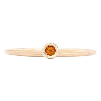 Birth Jewel Stacking Ring With Citrine