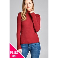 Womens sweaters cute casual fall winter fashion plus size long sleeve turtle neck fitted rib sweater top