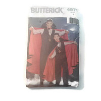 Sewing Pattern 4971 Butterick Mens and Boys Cape Bow Tie Vest & Pants Size A Easy Sewing Projects Pattern Tutorial Halloween Vampire Custome