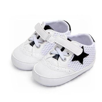 Solid Star Mesh Anti-slip Soft Casual Shoes