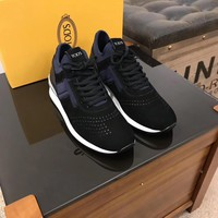 TOD'S  Men Fashion Boots fashionable Casual leather Breathable Sneakers Running Shoes