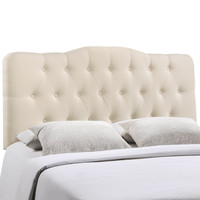 Annabel Full Fabric Headboard in Ivory