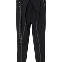 Belted Stretch-Wool Pants | Moda Operandi