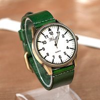 Trendy New Arrival Great Deal Good Price Awesome Gift Designer's Unisex Dial Leather Vintage Stylish Korean Watch [4915377348]