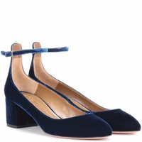 Alix 50 velvet pumps
