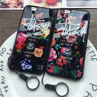 Floral Printed Stussy Case for iPhone