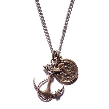 """""""Guardian"""" Necklace. Anchor and Medal necklace for Men."""