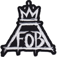 Fall Out Boy Iron-On Patch Crown FOB Logo