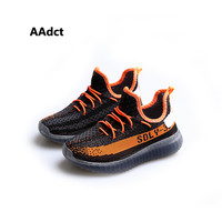 AAdct fashion children yeezy shoes sports boys sneakers Breathing knitted running little toddler girls shoes