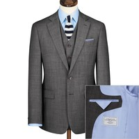 Grey Apsley sharkskin classic fit business suit | Men's business suits from Charles Tyrwhitt | CTShirts.com