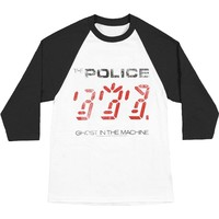 Police Men's  Ghost In The Machine Jersey Baseball Jersey White/Black