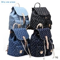 """Louis Vuitton"" women's wild fashion large capacity Messenger bag backpack shoulder bag"